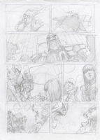 2000AD Judge Dredd Total War prelim Comic Art